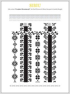 Semne Cusute: din TRANSILVANIA Folk Embroidery, Learn Embroidery, Cross Stitch Embroidery, Embroidery Patterns, Cross Stitch Borders, Cross Stitch Patterns, Sewing Stitches, Embroidery Techniques, Beading Patterns