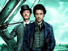 """The Doctor and the Detective.  (Jude Law and Robert Downey Jr., """"Sherlock Holmes"""")"""
