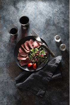 Nicole Branan | Food Photography | Food Photographer | Food Styling | Steak and Salad
