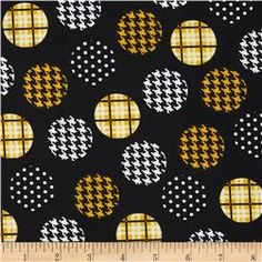 Spotlight Large Patterned Dots Golden Yellow/Black