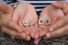 love, engagement ring and cute props, must have engagement photo Barn Wedding Photos, Engagement Photos, Engagement Rings, Rings For Men, Stud Earrings, Enagement Rings, Wedding Rings, Men Rings, Stud Earring