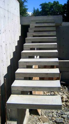Bedroom. stairs outside: Appealing Ideas About Concrete Stairs ...