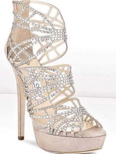 Sparkly, glittery diamond highheel glitter prom shoes