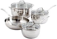 Oster 91997.07 Bovolone 7-Piece Stainless Steel Cookware Set, Multi-Size >>> For more information, visit now : Cookware Sets