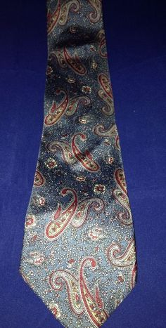 Paisley Imported All Silk Tie The Custom Shop Neck Tie  #TheCustomShop #Tie
