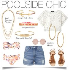 POOLSIDE CHIC by stelladot on Polyvore featuring TIBI, Topshop, River Island, H&M, Stella & Dot and Linda Farrow