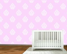 Wall Decal - Modern white Damask silhouette decals - wall decal stickers