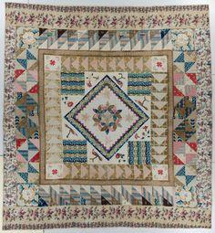 International Quilt Study Center & Museum: Quilt Explorer - Medallion, UK, around 1840 - A LOVELY QUILT AND IMPRESSIVE FABRICS