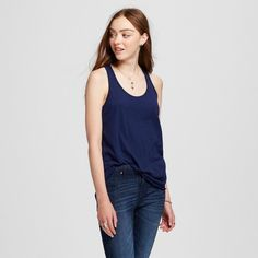Women's Racerback Tank Top Navy (Blue) Xxl - Mossimo Supply Co.