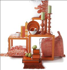 The Washington Post recommends decorating with the color orange all year to make your home brighter.