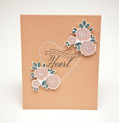 With All My Heart Card by Ashley Cannon Newell for Papertrey Ink (December 2013)