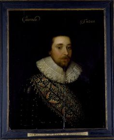 Portrait of William Cavendish, Earl of Devonshire - Oil on panel; 1625 - 1626 British (English) School In the collection at Hardwick Hall, National Trust