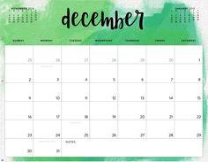 December 2018 Calendar Printable  #BlankDecemberCalendar2018
