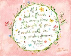 Print Details: This listing is for an inkjet print of my original watercolor + acrylic artwork. Printed on high quality Epson Matte paper with Quotes To Live By, Me Quotes, Daisy Quotes, Dorm Quotes, Floral Quotes, Nature Quotes, Famous Quotes, Daisy Art, Watercolor Lettering