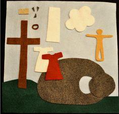 História em feltro: Jesus está vivo... Ele venceu!!!!