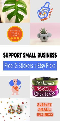 Support Small Business - Free IG Stickers And Etsy Picks - Cherbear Creative Instagram Story Template, Instagram Story Ideas, Free Instagram, Instagram Tips, Food Dog, Cover Template, Etsy Business, Free Graphics, Support Small Business