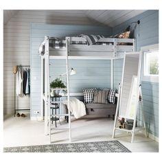 IKEA - ИСФЬЁРДЕН, Зеркало напольное, белая морилка, , Можно повесить ремни, сумки и другие аксессуары.Подходит для использования в большинстве помещений. Протестировано и одобрено для использования в ванной.Массив дерева – прочный натуральный материал.Специальная пленка защитит от осколков, если стекло разобьется.