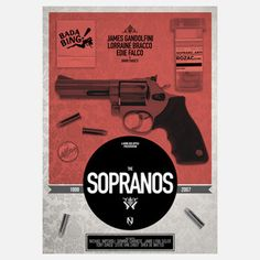 Sopranos 11.7x16.5 now featured on Fab.