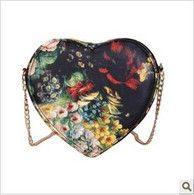 2012 stylish design vintage oil painting flower cross body shoulder heart women's handbag heart purse clutch bag-inMessenger Bags from Luggage & Bags on Aliexpress.com