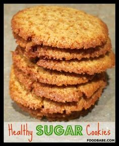 Healthy Sugar Cookies @ Food Babe -- These are made with coconut sugar, but I'm going to try Swerve for a sugar-fee cookie.