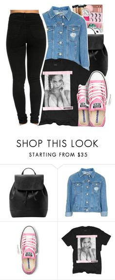 """""""'cause i slay"""" by yeauxbriana ❤ liked on Polyvore featuring MANGO, Topshop and Converse"""