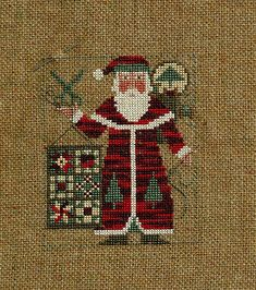 Prairie Schooler Santa 2005 by Nans A Stitch, via Flickr