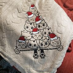 Thank you to Shannon R Martin for sharing her beautiful blanket creation with me! I love it so much! Cats Wearing Santa Hats Christmas Tree Cat Lover Christmas SVG Cut File Christmas Svg, Santa Hat, Cutting Files, Alexander Mcqueen Scarf, Cat Lovers, Blanket, Cats, How To Wear, Beautiful