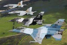 F-16 Aggressors and USAF F-18 RAAF training in Australia