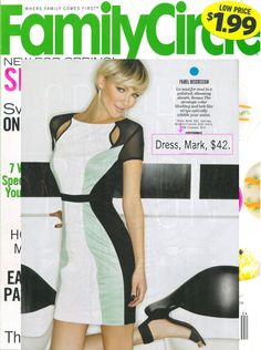 mark's Major Hit Dress featured in @Family Circle Magazine! #colorblock