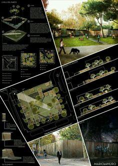 prancha na cor Preta , um projeto de um parque.