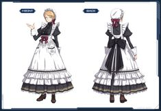 Maid Outfit Anime, Anime Maid, Anime Outfits, Boy Outfits, Dress Drawing, Drawing Clothes, Victorian Maid, Old Fashion Dresses, Maid Cosplay