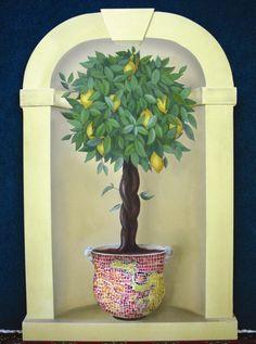 Painted lemon tree