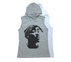 2Pac Tupac Shirt Tank Top Sleeveless Hoodie T Shirt Women T-Shirt Muscle Tee Size S M L