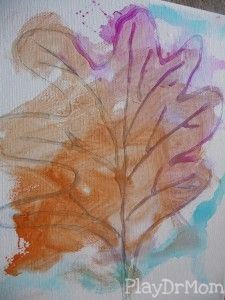 simple and beautiful fall art for kids