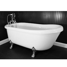 @Overstock - Chrome Edwardian tub faucet with handheld shower  High gloss white interior and exterior  Integrated drain with overflowhttp://www.overstock.com/Home-Garden/Spa-Collection-67-inch-Air-Massage-Slipper-Clawfoot-Tub-Package/6144136/product.html?CID=214117 $2,479.99