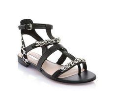 Frainee Animalier Chain Sandal Guess - Sandales Femme Guess - Ventes-pas- cher.com