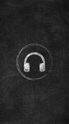 Chalkboard Instagram Story Highlight Icon - Headphones Instagram Logo, Overlays Instagram, Instagram Music, Instagram Background, Creative Instagram Stories, Instagram Design, Free Instagram, Instagram Story Template, Instagram Story Ideas