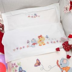 Gallery.ru / Фото #25 - nnn - ergoxeiro Baby Cross Stitch Patterns, Cross Stitch Baby, Cross Stitch Charts, Cross Stitch Designs, Baby Applique, Baby Embroidery, Embroidery Stitches, Embroidery Designs, Baby Sheets