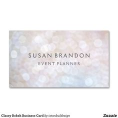 Classy Bokeh Business Card