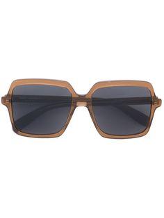 Saint Laurent oversized sunglasses.