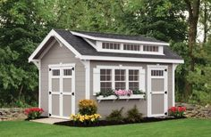 The Weaver Barns' Craftsman shed is the ultimate multi-purpose backyard shed rolling beauty, elegance and functionality all into one great structure!