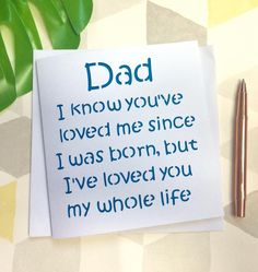Father's Day Card, Dad birthday, father's day dad, card for dad, dad gift, dad birthday card, lovely card, from son, from baby, idea for dad by AprilDaysDesigns on Etsy
