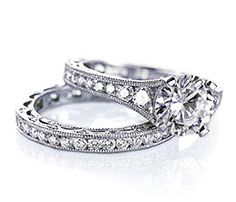 #Tacori engagement ring and wedding band