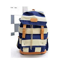 02f000d1a162c 2016 Women Girl Striped Canvas Backpack Leisure Hot School Backpack For  Teenagers Travel Rucksack Campus Leisure Bag