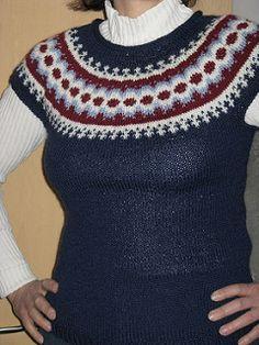 Ravelry: Léttlopavesti (Létt-Lopi Vest) pattern by Védís Jónsdóttir