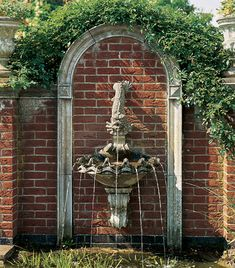 Shell Wall Fountain - New England Garden Ornaments