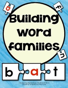 Building Word Family  Great for Literacy center!
