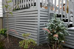 We shared how we switched the lattice that was on the bottom of the deck to horizontal slats. Also what we to clean our painted deck wtih. Deck With Pergola, Pergola Patio, Cheap Pergola, Patio Roof, Pergola Cover, Iron Pergola, Patio Awnings, Garage Pergola, Rustic Pergola