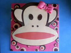 Paul Frank Cake just in case anyone is wondering. We like monkey's and jungle/animal print is the theme. :)