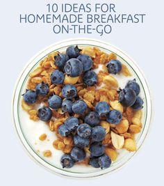 10 easy ideas for homemade breakfast on-the-go.